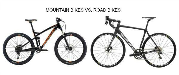 Mountain bike Vs. Road bike