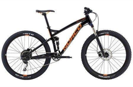 Black mountain bike.
