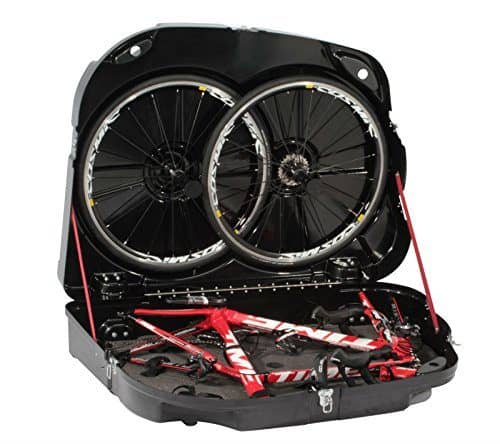 Bike packed in a bag for transport