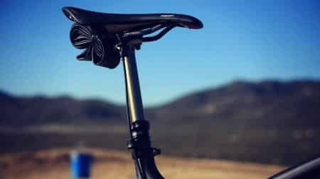 Mountain bike saddle.
