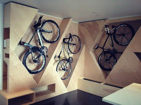 Bike storage - wall rack.