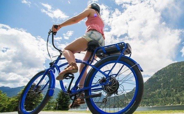 Enjoying Electric Bike Ride
