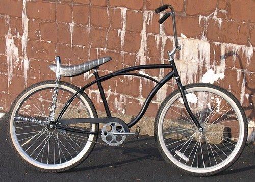 Black low rider cruiser bike