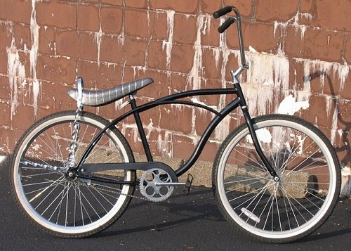 Black low rider cruiser bike