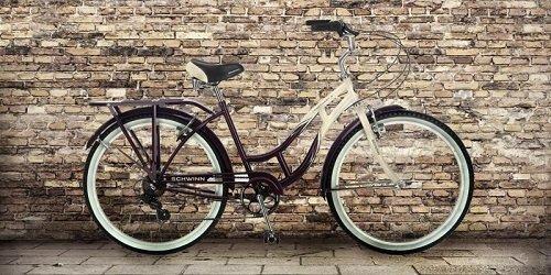 Schwinn cruiser bike by the brick wall