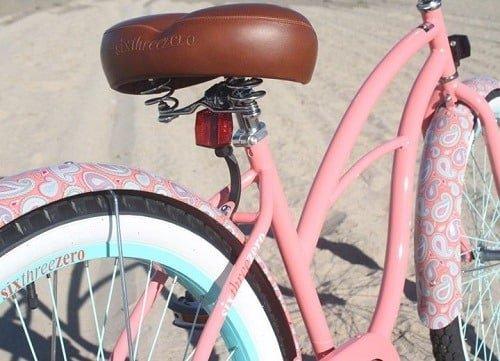 Pink sixthreezero cruiser bike