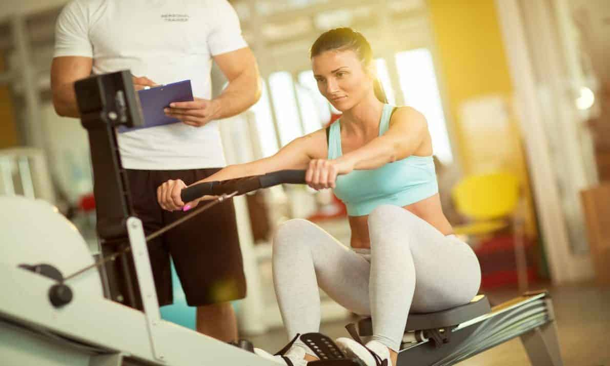 Rowing on a Rowing Machine