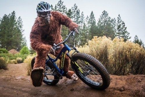 Sasquatch riding a cycle
