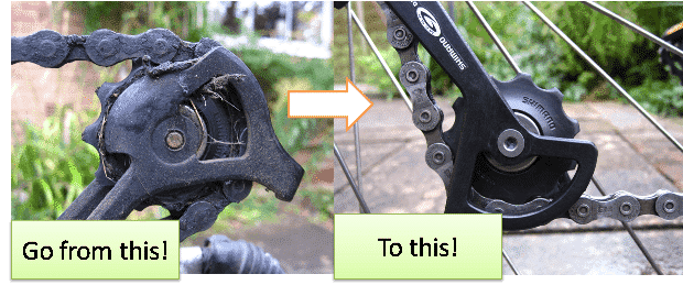 how to clean a bike chain