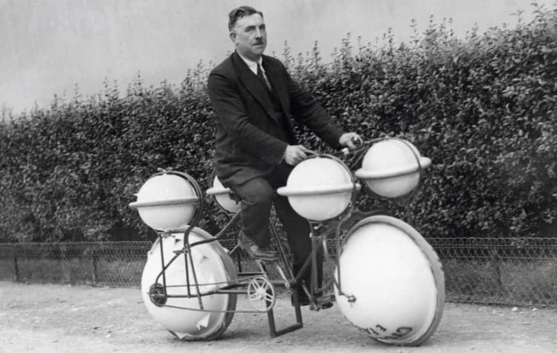 Cyclomer one of the first floating bicycles