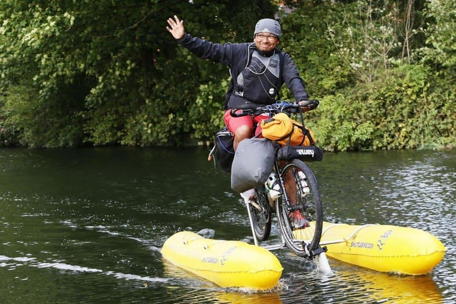 The Amphibious Bicycle - The Bike That Swims
