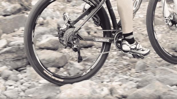 Tire on mountain