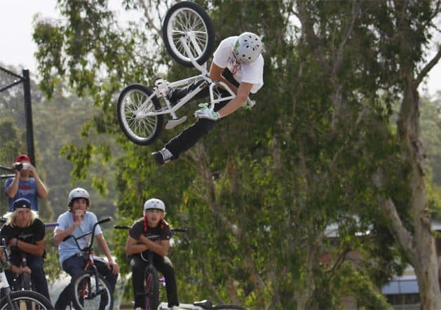 freestyle bmx riding
