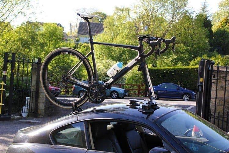 Disasembing bike for transport bike rack