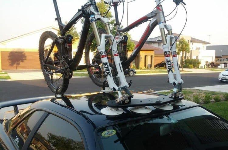 Suction Bike Rack on a car