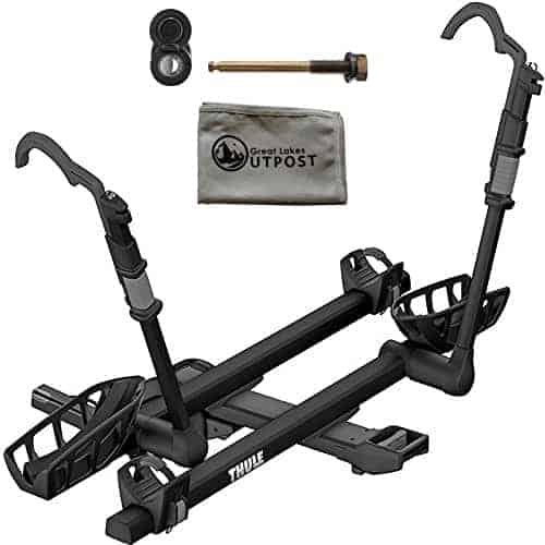 "Thule T2 Pro XT 2-Bike Black 2"" Hitch Mount Rack with Snug-Tite Lock and Cloth"