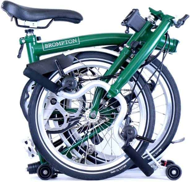 brompton m6r review, folded up