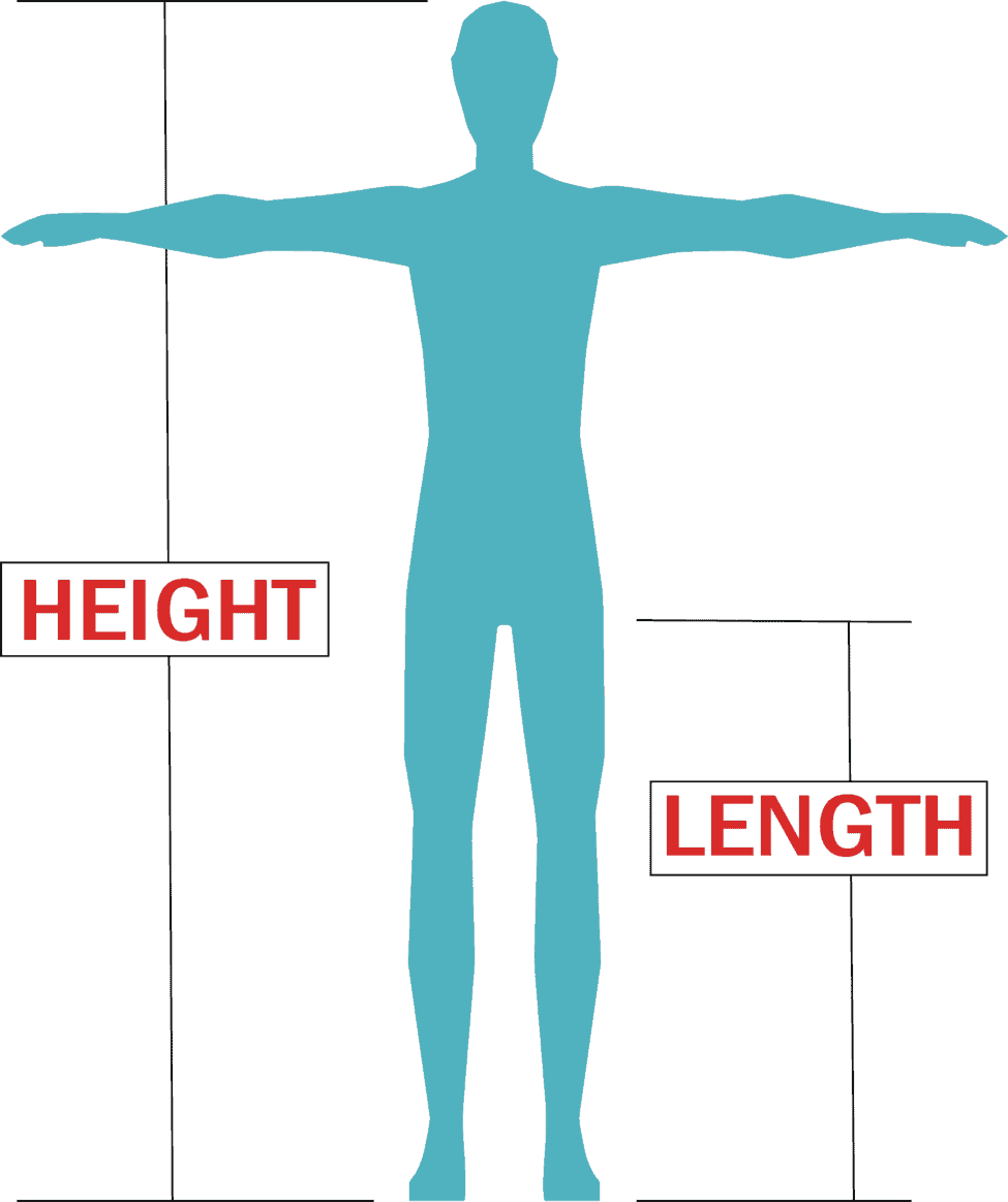 rider height and length