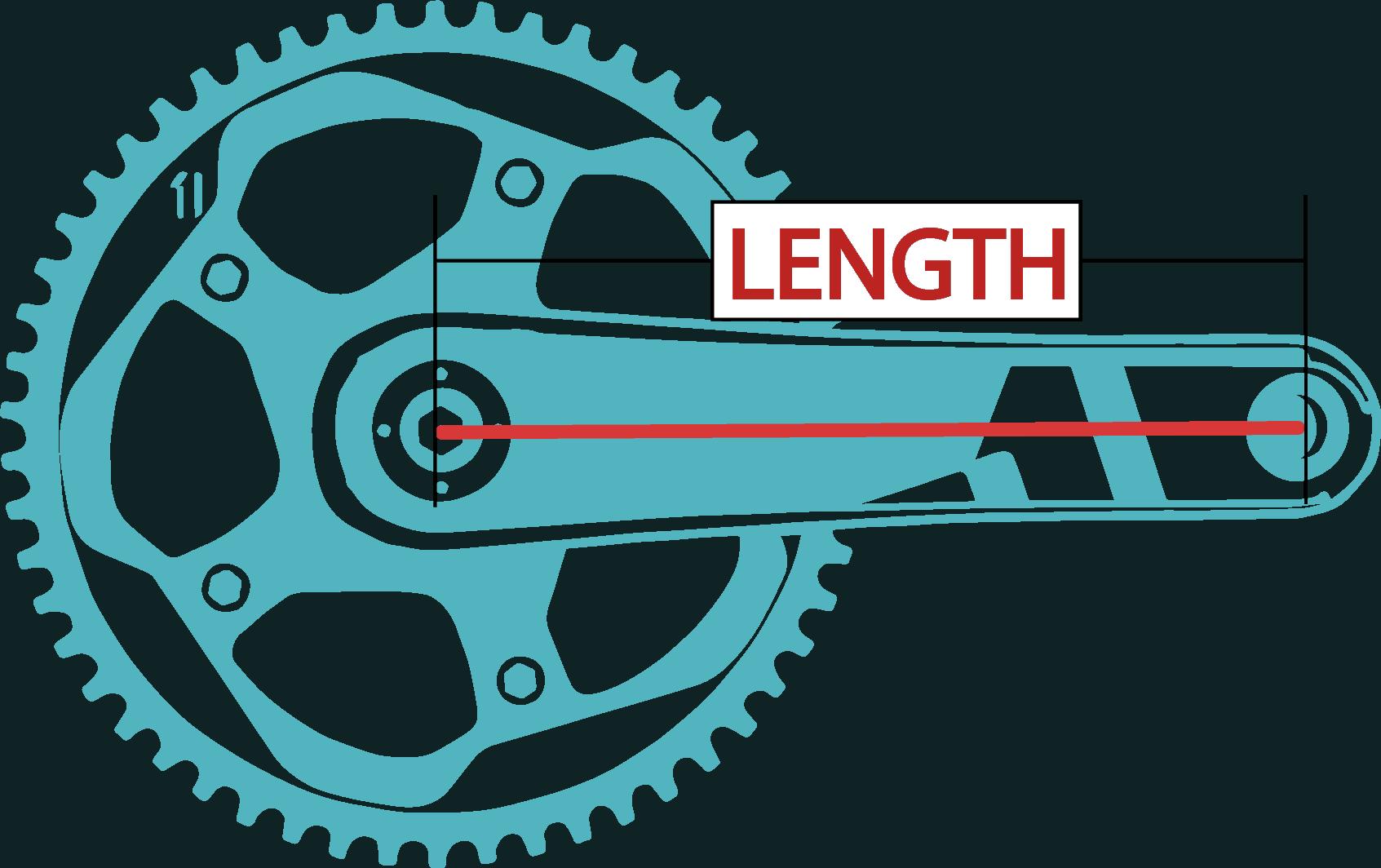 crank sizes bicycle