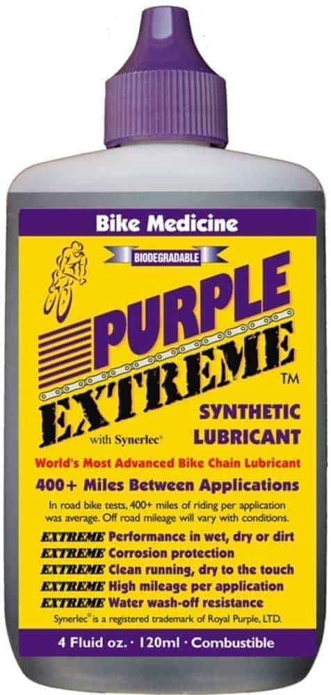 best bike chain lubes buying guide - Bike Medicine Purple Extreme Performance Synthetic Chain Lubricant