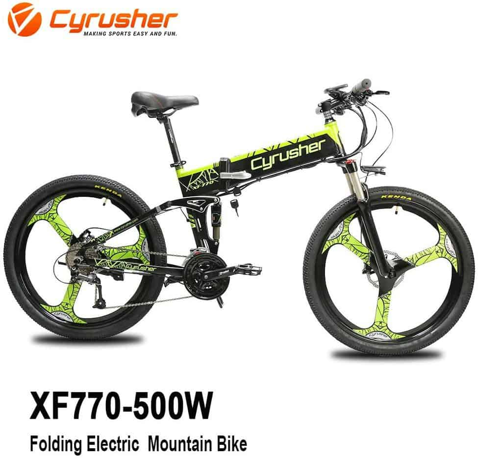 Cyrusher XF770 Folding Electric Mountain Bikes