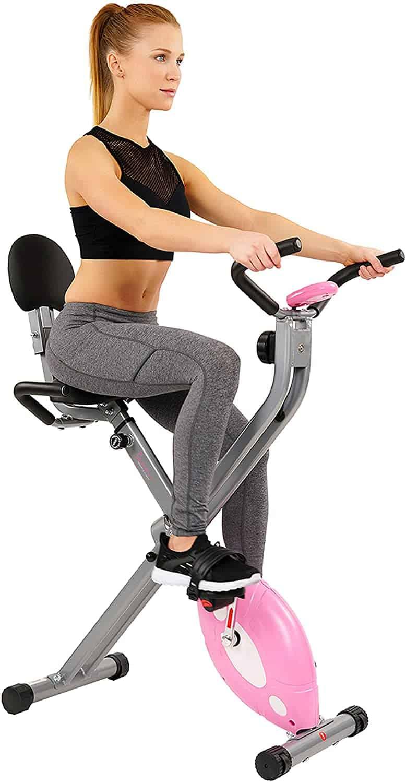Sunny Health & Fitness Magnetic Folding Recumbent Exercise Bike