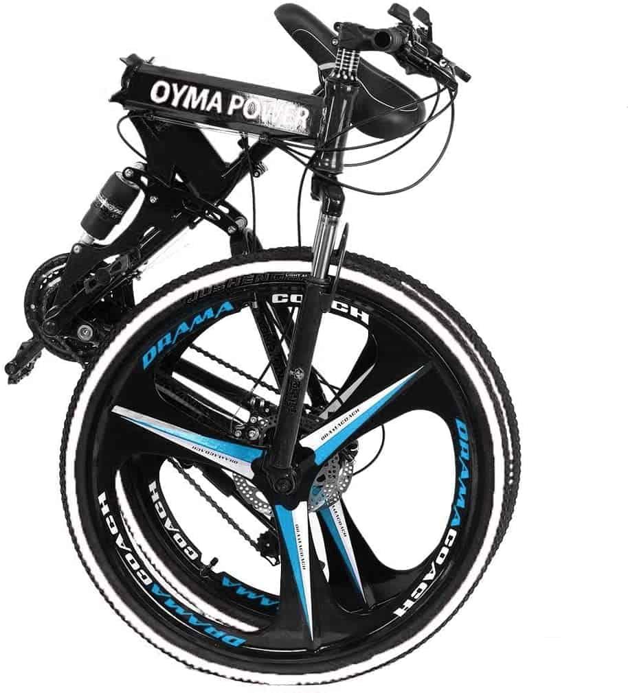 Folding-full-suspension-mountain-bike