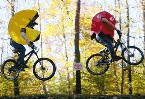 Pac mac halloween costume for cyclist