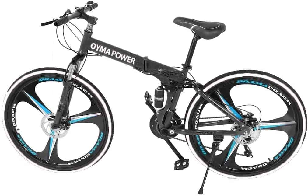 Folding Mountain Bike 26in 21 Speed Bicycle Full Suspension MTB Bikes
