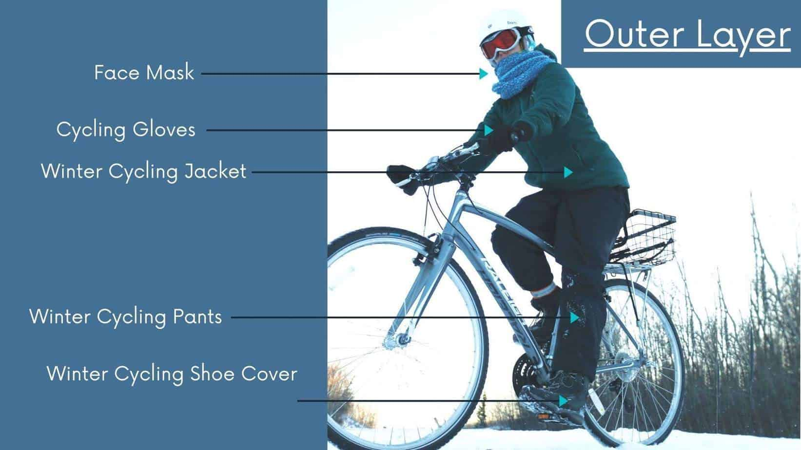 Outer layer Of winter cycling gear