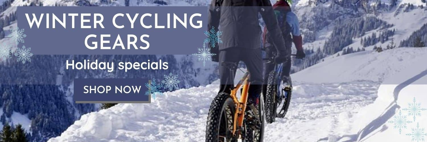 Winter Cycling Gears Banner