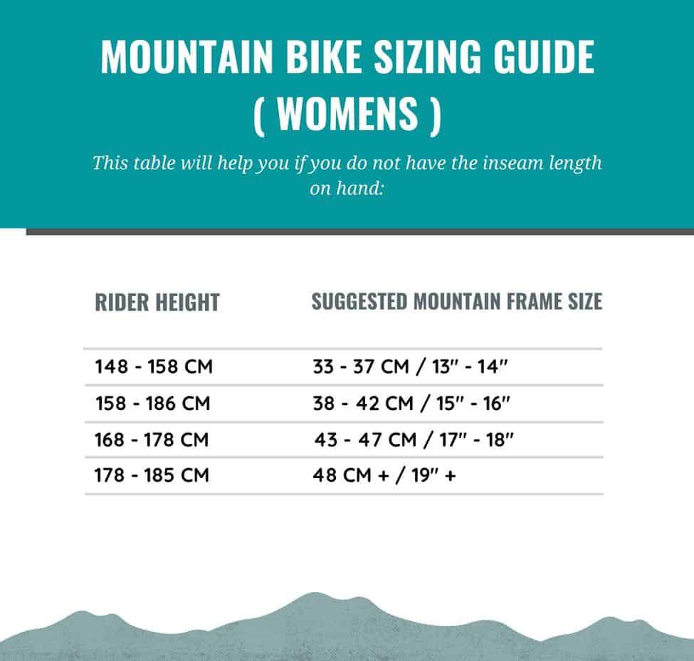 Mountain Bike Sizing Guide for Women