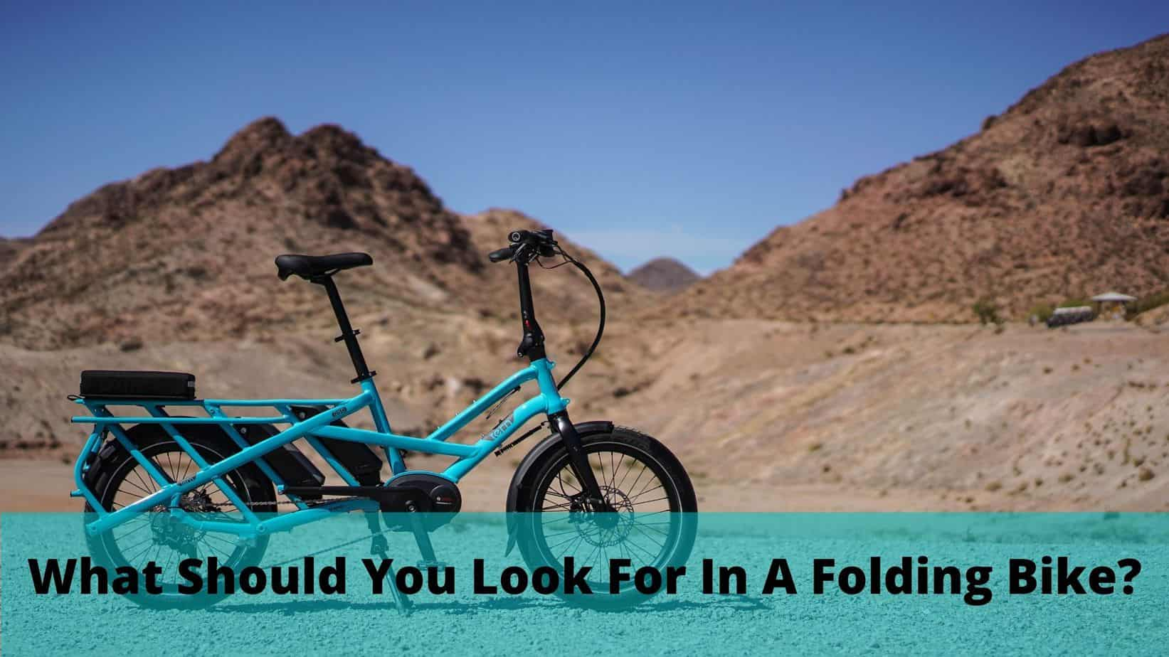blue folding bike