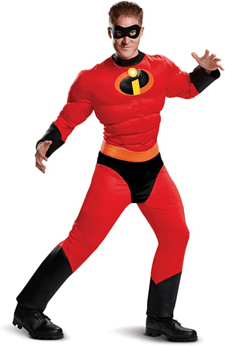 Mens Mr Incredible Classic Muscle Adult Costume