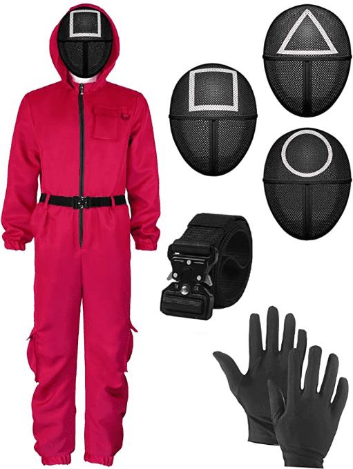 Squid Game Costume Squid Masked Man Jumpsuit