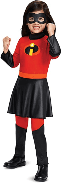 Violet Jumpsuit with Skirt Girls Costume