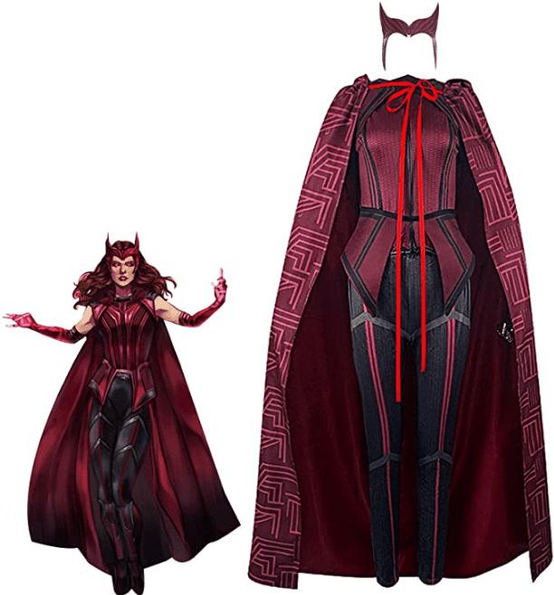 Wanda Vision Scarlet Witch Cloak Top Headpiece